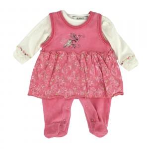 Kanz Kleidchen-Strampler & Shirt pink