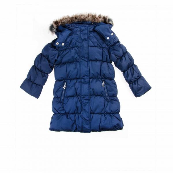 Kanz Wintermantel für Mädchen dunkelblau.