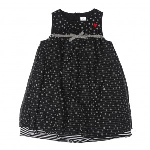 Königsmühle Mädchen Kleid-schwarz