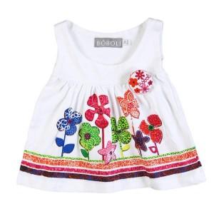 Boboli Tunika für Baby Mädchen in weiß