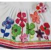 Boboli Tunika für Baby Mädchen in weiß.