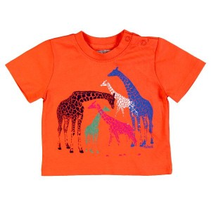 Boboli T-Shirt Giraffe in orange