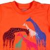 Boboli T-Shirt Giraffe in orange