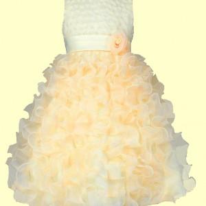 Blumenmädchen Festkleid Ärmellos, Rundhalsausschnitt, Reißverschluss am Rücken. Blumenapplikationen mit Kunstperlen.Blumenmädchen Festkleider Festkleidung