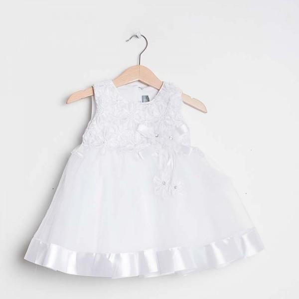 Taufkleid Festkleid Blumenmädchen Baby Kleid Spitze /Tüll