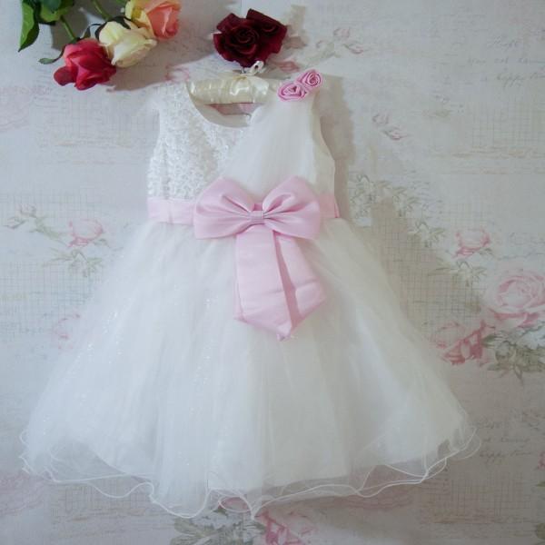 Exclusives Taufkleid Weiß Tüllkleid Hochzeit Prinzessin
