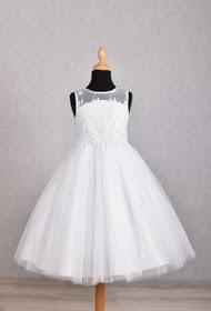 Kommunionkleid Mädchenkleid Taufkleid Weißes Blumenmädchenkleid